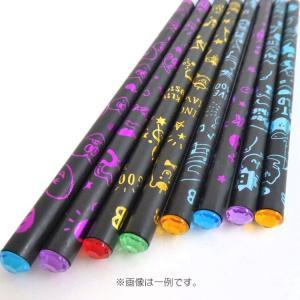 3811 ラッピング不可 選べません 福袋 ラインストーン付き鉛筆 8本セット ファンシー文具