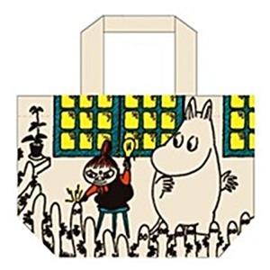 マチ付き コットンバッグ ランチバッグ リトルミイ 灯り ムーミン 北欧 スモールプラネット 30×20×9.5cm お弁当かばんの商品画像|ナビ
