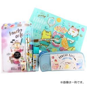 女の子の好きな子猫とカフェがデザインされた可愛いKONEKO CAFE☆文具のセットです♪  【文具...