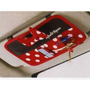 Disneyミニー   サンバイザーポケットBK  ラブリーミニー   カー用品