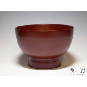 漆器 日々椀 大 赤 赤木明登作 (お椀) cast0217