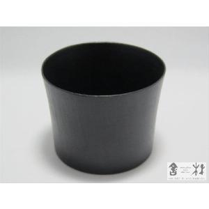 漆器 乾漆 そばちょこB 黒 鎌田克慈作 (猪口 デザートカップ)|cast0217