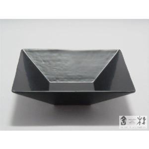 漆器 乾漆 角鉢 3寸 黒 鎌田克慈作 (取り鉢)|cast0217