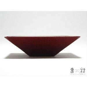 漆器 乾漆 角鉢 3寸 赤 鎌田克慈作 (取り鉢)|cast0217|02