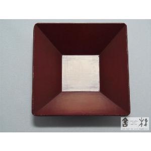 漆器 乾漆 角鉢 3寸 赤 鎌田克慈作 (取り鉢)|cast0217|03