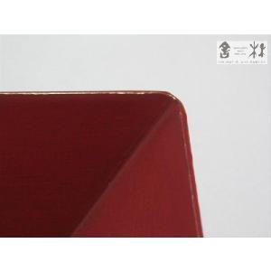 漆器 乾漆 角鉢 3寸 赤 鎌田克慈作 (取り鉢)|cast0217|04