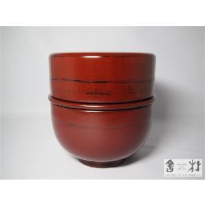 漆器 朱弁当椀(高) 北原進作 |cast0217