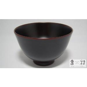 漆器 羽反汁椀 小 溜 中野知昭作 cast0217