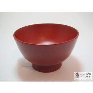 漆器 飯椀 4.3寸 赤 土田和茂作|cast0217