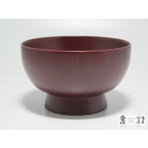 漆器 福椀 4寸 溜 土田和茂作|cast0217