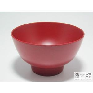 漆器 つぼみ飯椀 4.15寸 赤 土田和茂作|cast0217