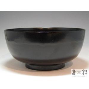 吉田宏之作 うどん鉢 木地呂 黒  180×83mm 1160cc|cast0217