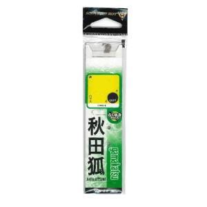 がまかつ 糸付 秋田狐 茶 7号−ハリス0.6 casting