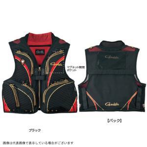 がまかつ フィッシングベスト ハーフメッシュベスト(V7) GM2320 ブラック/レッド M