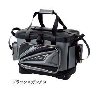がまかつ タックルバッグ がま磯クール GB358 ブラック/ガンメタ 36リットル