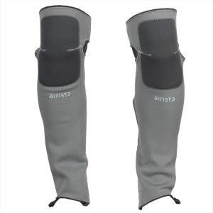 ミニマリストのための軽量ウェットウェーディングゲーター上部は膝の上下で固定し、ずり落ちにくく、裾側は...