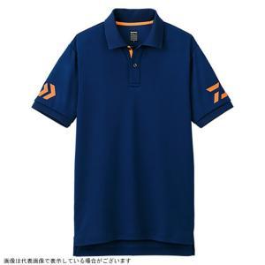 ダイワ DE-7906 半袖ポロシャツ ネイビー×Cトマト 140|casting
