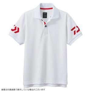 ダイワ DE-7906 半袖ポロシャツ ホワイト×レッド 140|casting