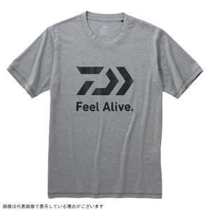 ダイワ DE-83009 ショートスリーブ FEEL Alive.Tシャツ フェザーグレー WL|casting