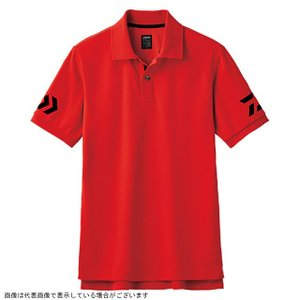 ダイワ DE-7906 半袖ポロシャツ レッド×ブラック 120|casting