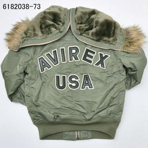 AVIREX アヴィレックス(アビレックス) 6182038-73 N-2B TIGHT  LOGO ロゴ  セージグリーン L casualcojp