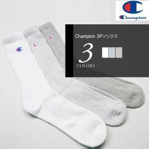 Champion (チャンピオン) メンズ 靴下 ソックス 3P メール便不可 (Y) 160725