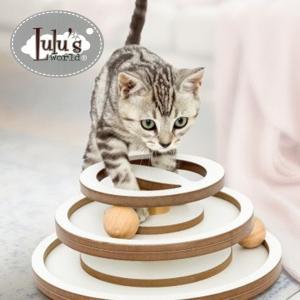 爪とぎ タワー 猫用 おしゃれ 木製 小型 安定感 おもちゃ ネコ 麻縄 麻 【Lulu's wor...