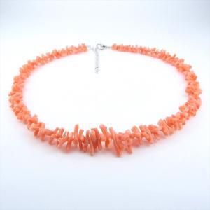 珊瑚 ネックレス ピンク珊瑚 深海珊瑚 ヤタラ グラデーション 天然|cathaycoral