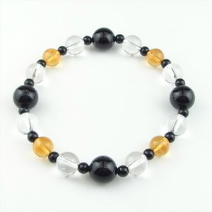 天然石 ブレスレット オニキス シトリン 水晶|cathaycoral