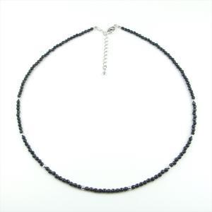 天然石 ネックレス オニキス 3mm カット玉|cathaycoral