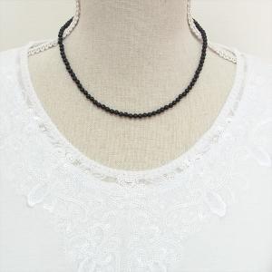 特価品 天然石 ネックレス オニキス 4mm玉|cathaycoral