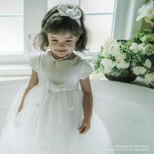 子供ドレス 結婚式 フェアリー フォーマルドレス ピアノ発表会 70 80 90 95 100 110cm 白|catherine