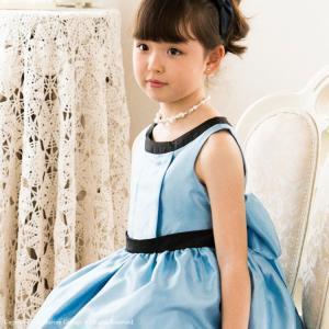 子供ドレス 結婚式 発表会 子供服 女の子 キッズ フォーマル 120 130 140 150 160 ラウンドネックシャンタンドレス|catherine