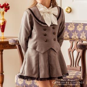 卒業式 小学校 入学式 女子 子供服 女の子 スーツ 丸襟セーラーのダブルボタンスーツ2点セット 110 120 130 140 150 160 165 ONB LR [TS] catherine