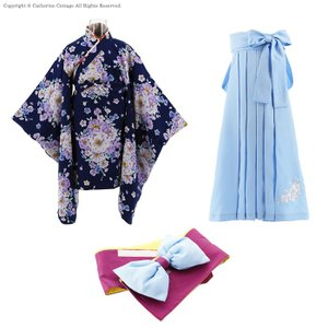 卒園式 子供服 女の子 着物 刺繍入り袴 帯枕...の詳細画像4