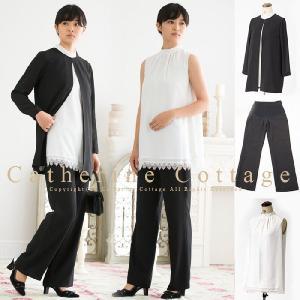 日本製パンツスーツのセットアップ3点セット マタニティウェア マタニティスーツ  M/L TAK|catherine