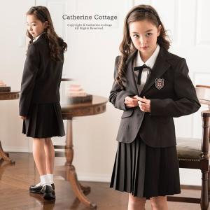 卒業式 スーツ プリーツスカートブラックスーツセット 女の子...