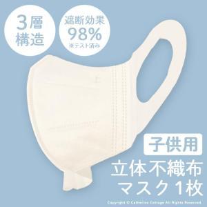 キッズマスク 立体 不織布マスク 子供用3層不織布3Dマスク 使い捨て 通販 白 小さめ 小さいサイズ   [YUP4]|catherine
