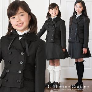 入学式 子供服 女 ガールズWボタン巻きスカートスーツ(ジャケット/スカートのセット) 卒業式 [処分価格 返品不可] TAK|catherine