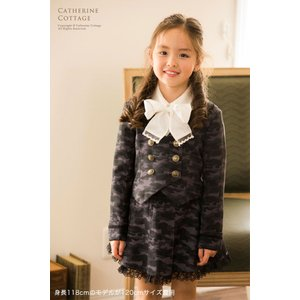 卒業式 入学式 女の子スーツ 丸襟セーラーのダブルボタンスーツ2点セット[ジャケット/スカート]子供スーツ   ONB GX 期間限定セール
