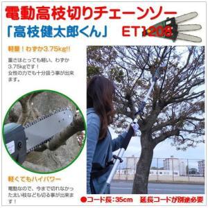 ET1208)家庭用電動高枝切りチェンソー(高枝...の商品画像