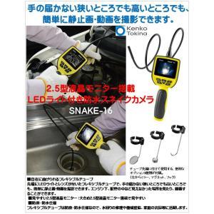 SNAKE-16)LEDライト付き)防水スネイクカメラ)2.5型液晶モニター搭載! ケンコー・トキナー(Kenko) catmail 02