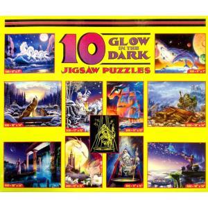 10 GLOW IN THE DARK JIGSAW PUZZLES ジグソーパズル|catrunshop
