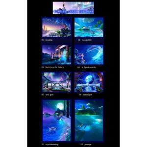 KAGAYA ポストカード Celestial Exploring 8枚セット(バラ組合セット)|catrunshop