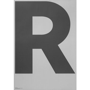 PLAYTYPE R-GREY ポスター catstyle