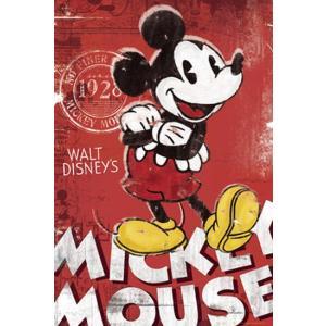 ミッキーマウス レッド ポスター|catstyle