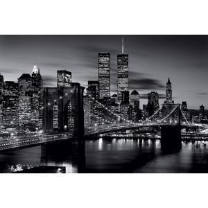 ブルックリンブリッジ モノクロ ポスター|catstyle