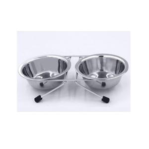 【宅配便配送】ステンレス製 ツイン食器 L 17号 cattery-branche