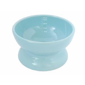 【宅配便配送】ペッツルート 瀬戸焼 にゃん楽食器 水のみ ミルキーブルー cattery-branche