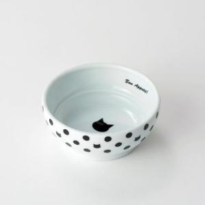 【宅配便配送】猫壱 ハッピーダイニング フードボウル 水玉 cattery-branche